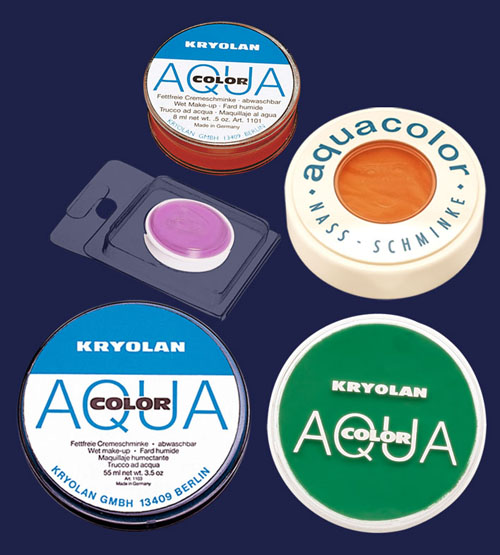 Kryolan Aquacolor - мокър грим  1101, 1102, 1103